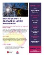 Biodiversity & Climate Change Roadshow - Bathurst
