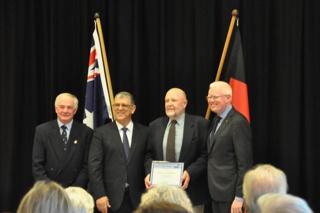 Bill Pigott proud to accept the award on behalf of Berry Landcarers