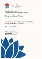 """MEDIA RELEASE from Gareth Ward MLA Kiama, re NSW Envrionmental Trust """"Bush Connect"""" Grant"""