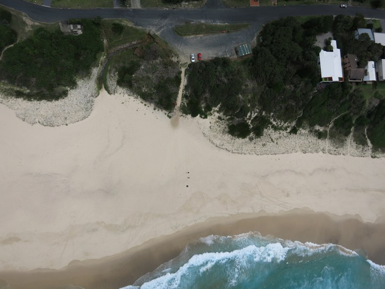 aerial photo of south end Blueys Beach at 15 Feb 2015.JPG