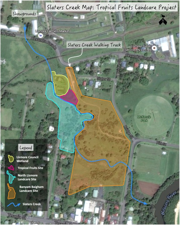 Site Map for the Slaters Creek Project