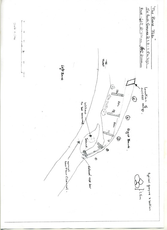 Site Map lower Mongarlowe River