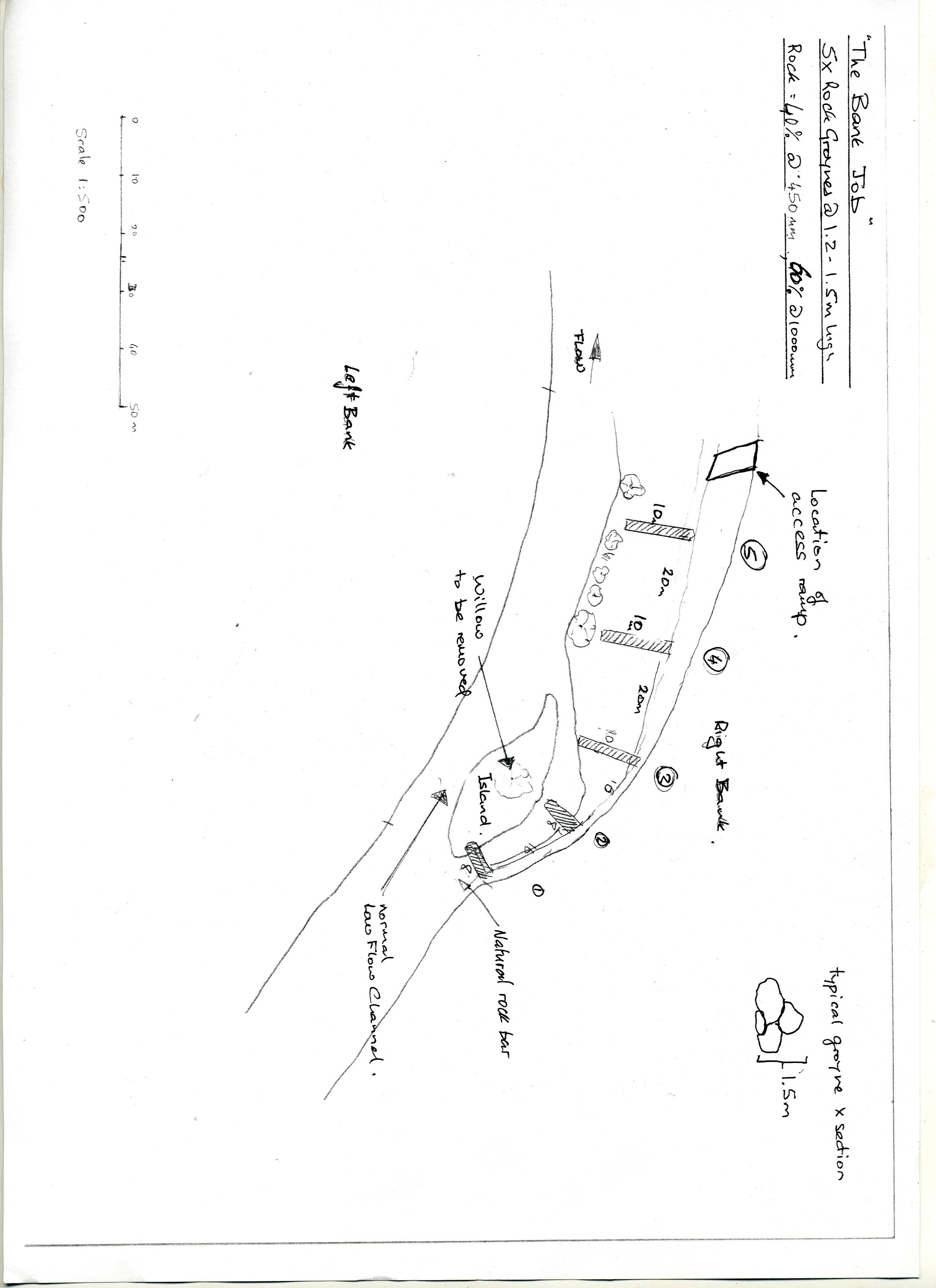 Site Map lower Mongarlowe River