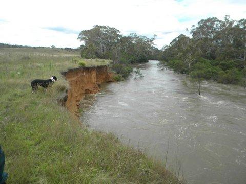 Water Flow causing erosion