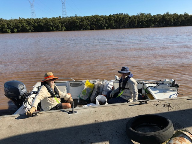 The Boat was a convenient way of getting into the mangroves and phragmites.jpg