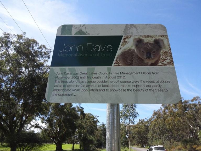 John Davis Memorial Sign