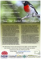 "K2C: ""Save Our Scarlet Robin""  Delegate"