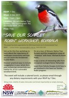 K2C: Save our Scarlet Robin Workshop, 9 Dec, Bombala