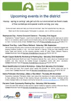 Upcoming Events in the Districct