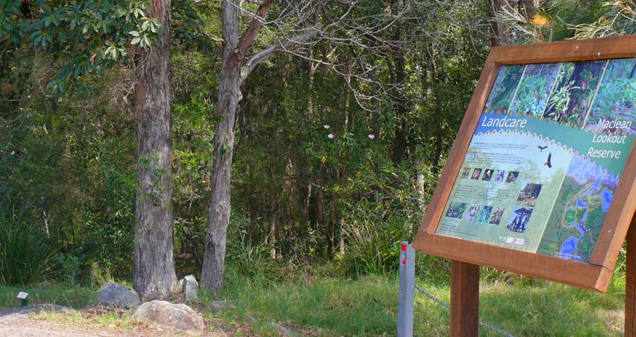 Landcare signs at Maclean Lookout