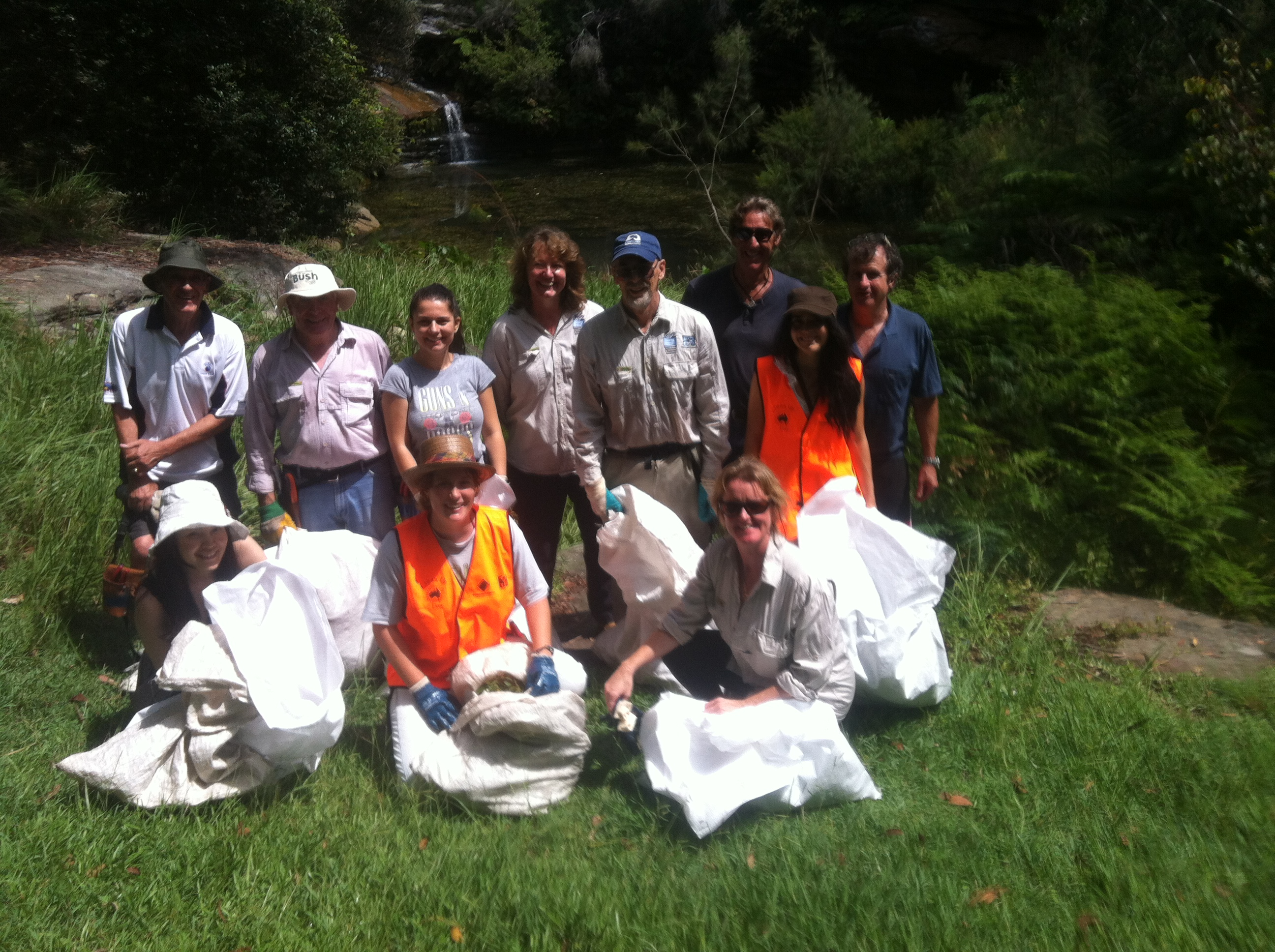 Removing rubbish and weeds Feb 2015