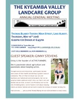 Kyeamba Valley AGM and dinner with Ginny Stevens