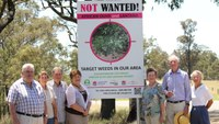 African Olive and Lantana sign launch - Glendonbrook catchment