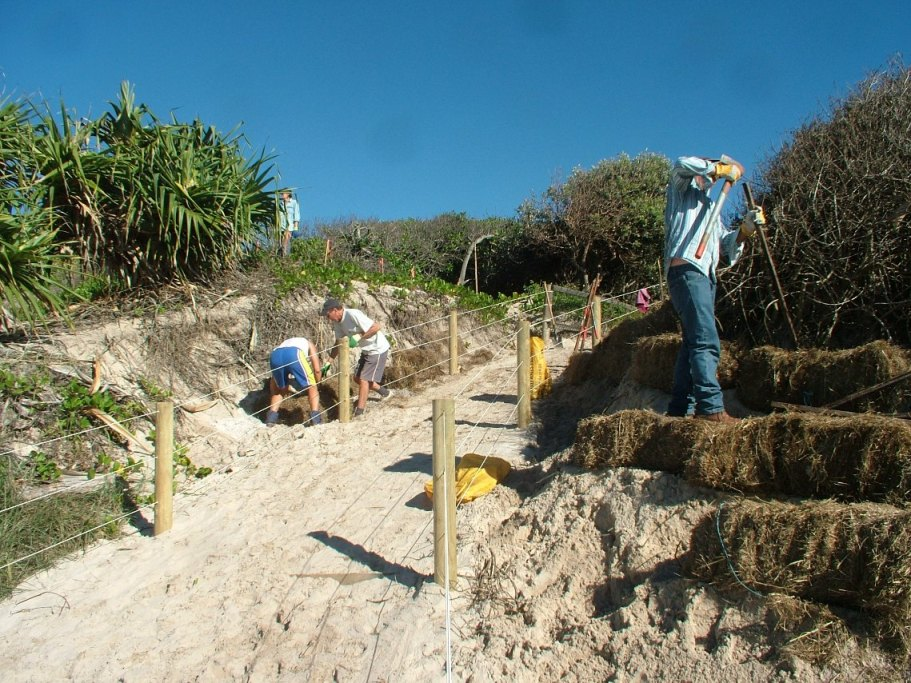 2011 repairing degraded margins of a newly surfaced beach access track.JPG