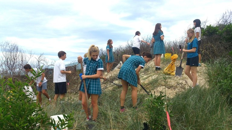 World Environment Day 2014 Byron High working with Suffolk Park Dunecare.jpg