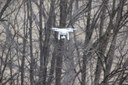 The drone in action