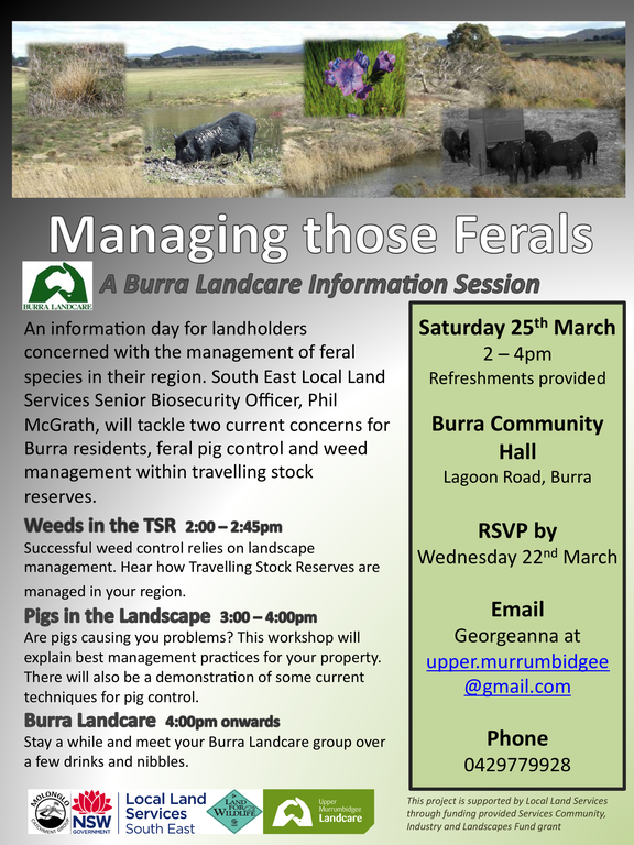 Managing those ferals: A Burra Landcare Information Session